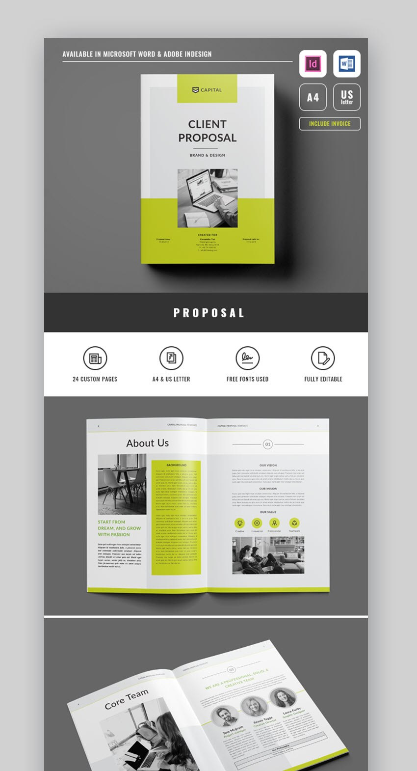 Professional Business Project Proposal Templates For With Free Proposal Templates For Word