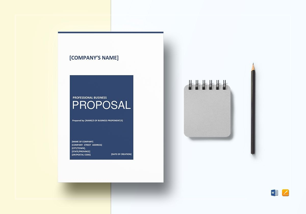Professional Business Proposal Template For Proposal Template Google Docs