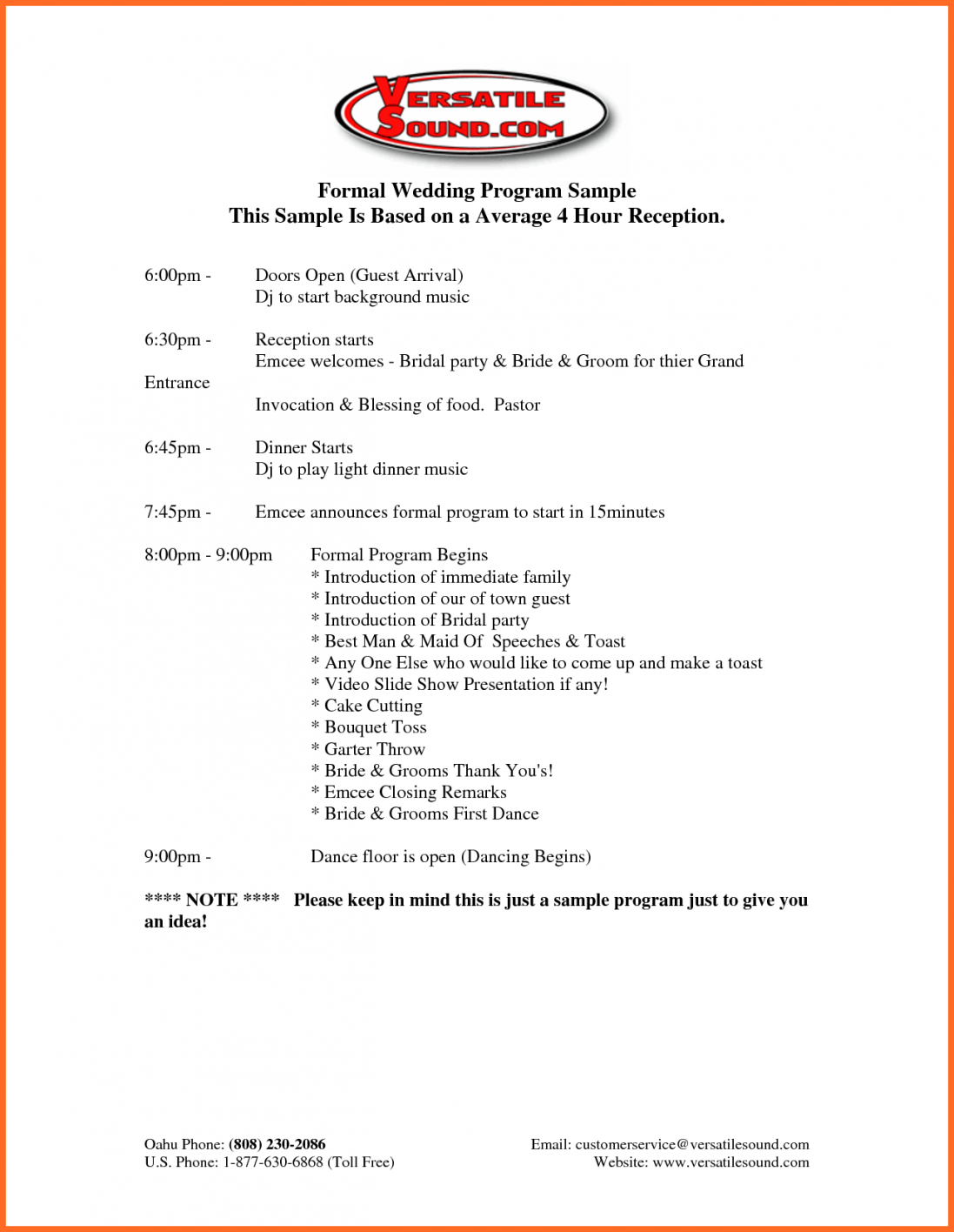 Programme Samples For Events Ozilmanoof Amazing Formal Event Program Intended For Program Agenda Template
