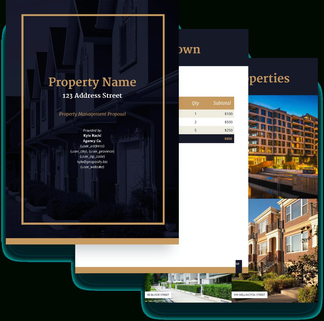 Property Management Proposal Template  Free Sample  Proposify Regarding Real Estate Proposal Template