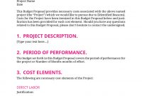 Proposals  Budget Proposal Template for Proposed Budget Template