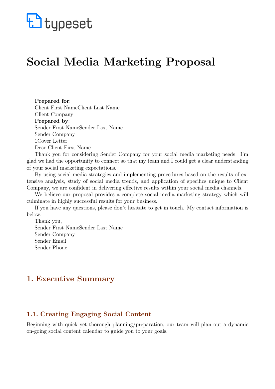 Proposals  Social Media Marketing Proposal Template With Regard To Social Media Proposal Template