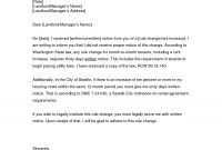 Rent Increase Letter  Gplusnick regarding Rent Increase Letter Template