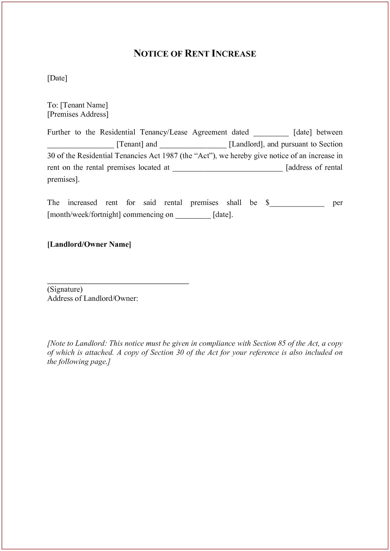 Rent Increase Letter Template  Templates Stirring Ideas For Rent Increase Letter Template