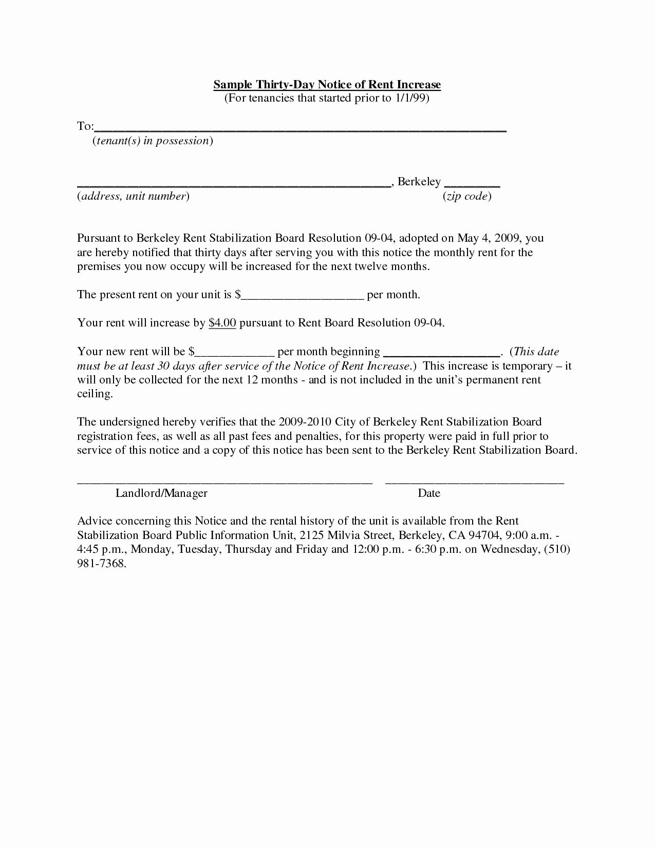 Rent Increase Letter To Tenant Template Collection  Letter Templates With Rent Increase Letter Template