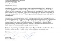 Rep Duffy Letter To Sec Tom Vilsack  Congressman Sean Duffy in Letter To Congressman Template