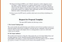 Request For Proposal Email Template For Sample Rfp Response Template with Request For Proposal Response Template