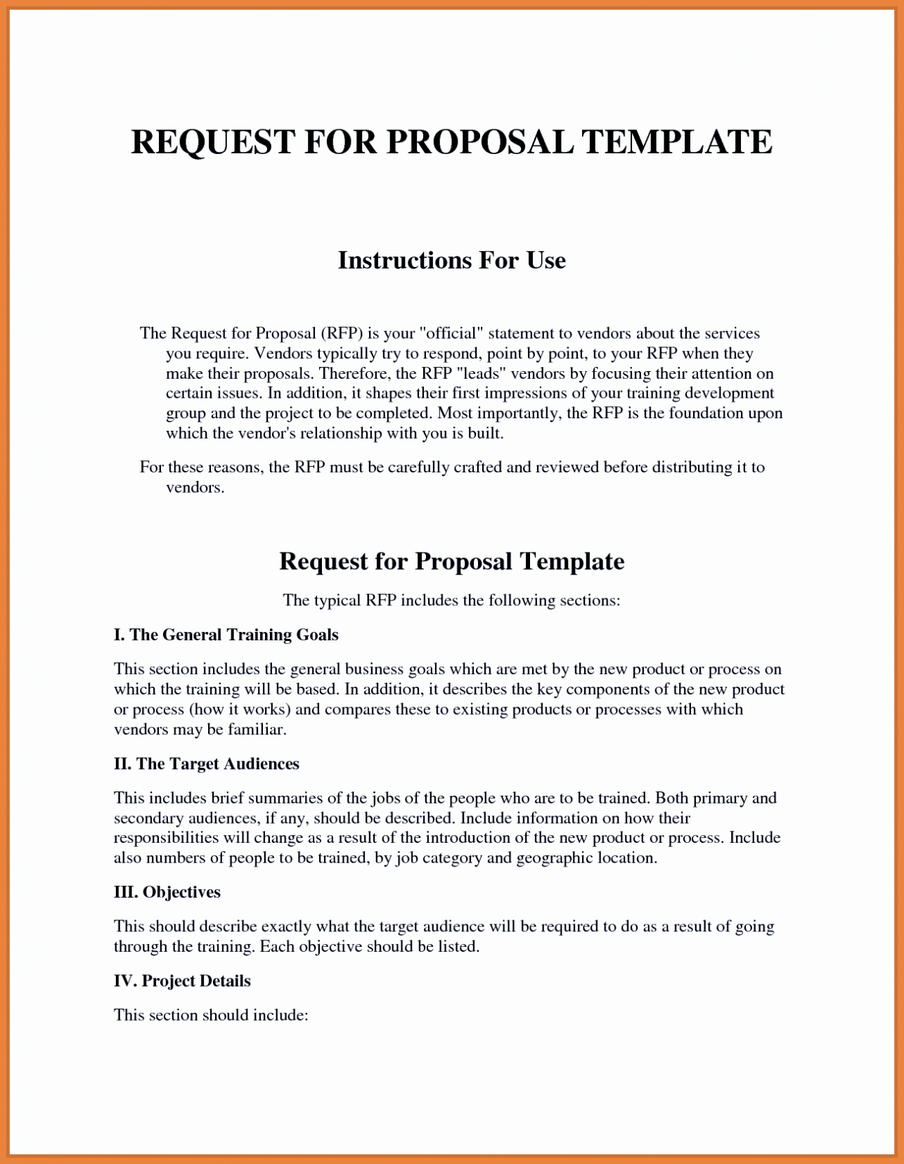 Request For Proposal Email Template For Sample Rfp Response Template Within Technology Proposal Template