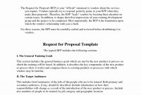 Request For Proposal Template Of And Unbelievable Ideas Free regarding Request For Proposal Template Word