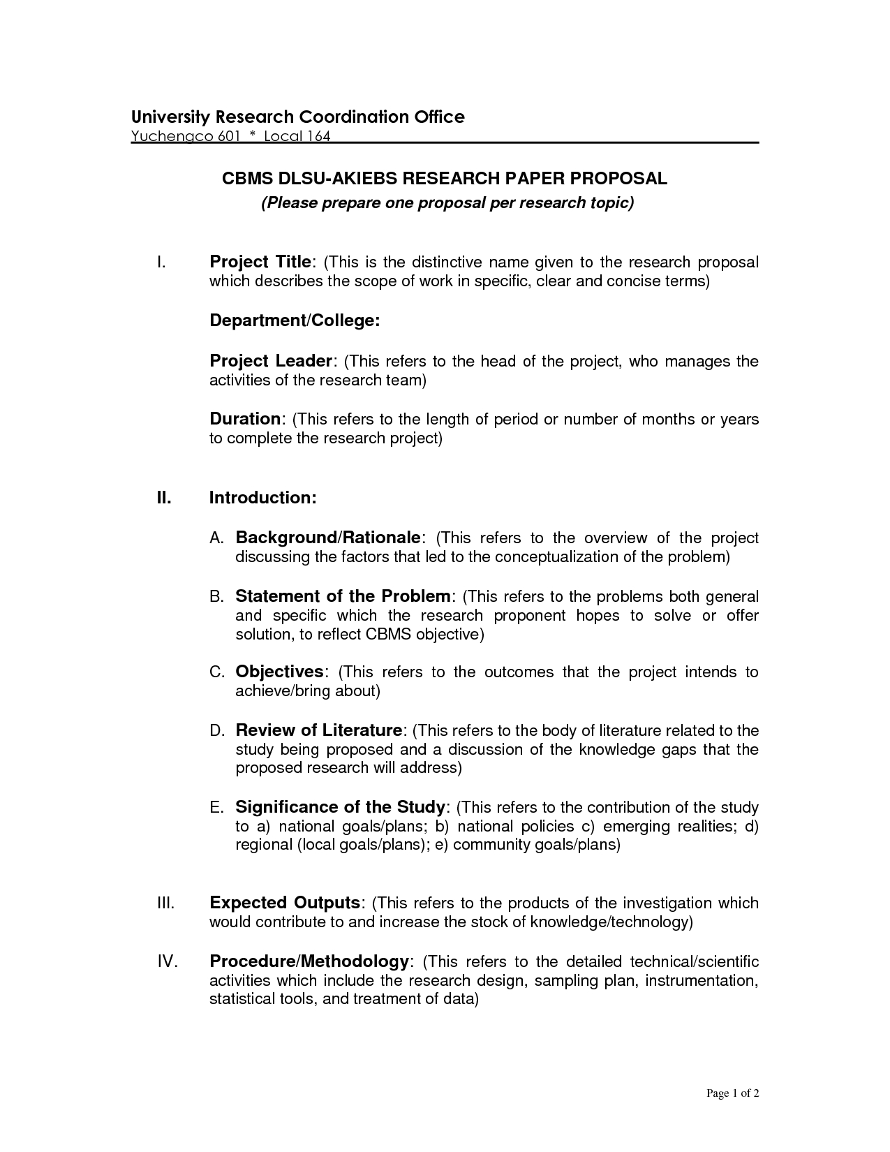 Research Proposal Outline Template Ideas Of Phd Formatle Essay In Research Project Proposal Template