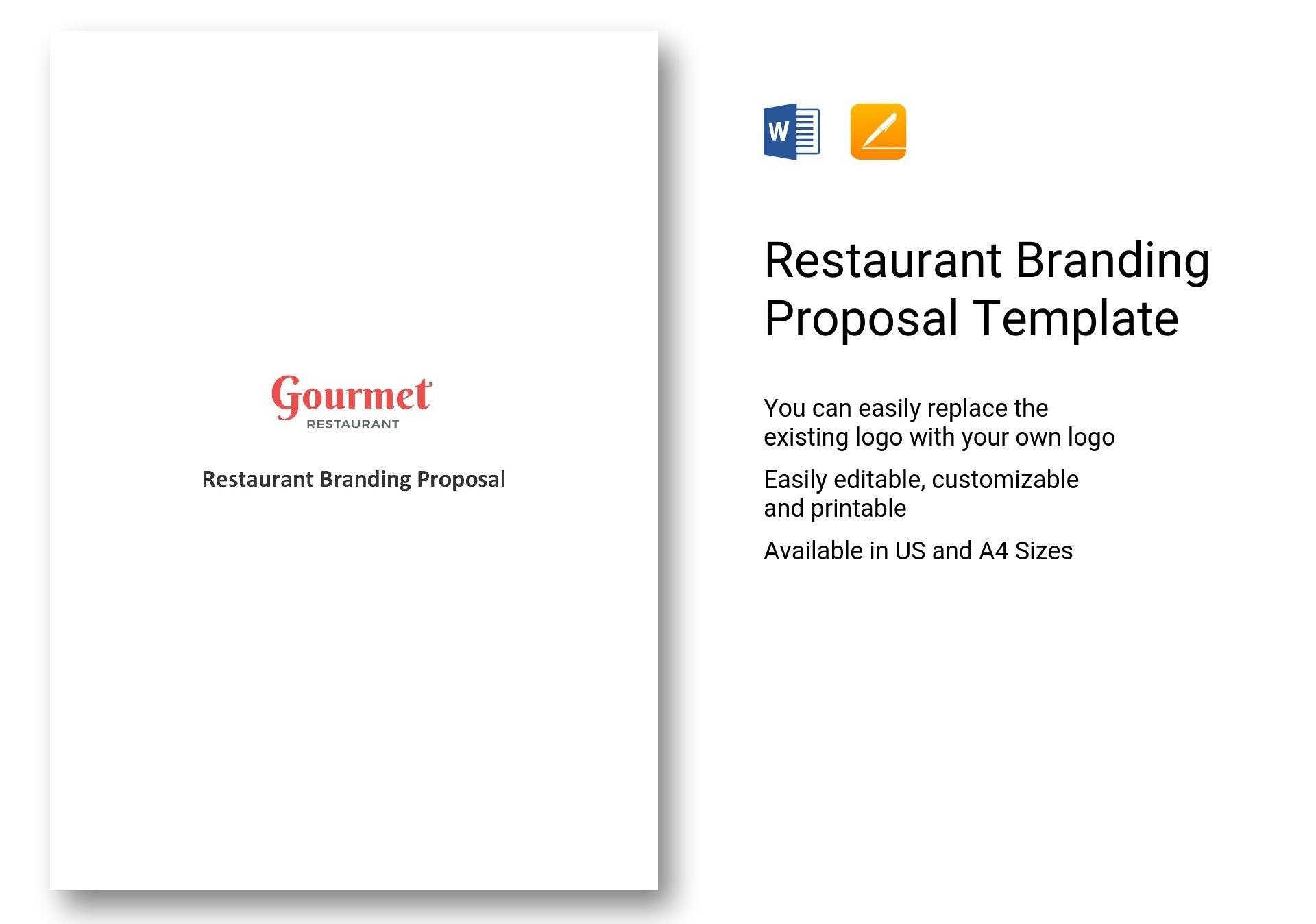 Restaurant Branding Proposal Template In Word Apple Pages Intended For Branding Proposal Template