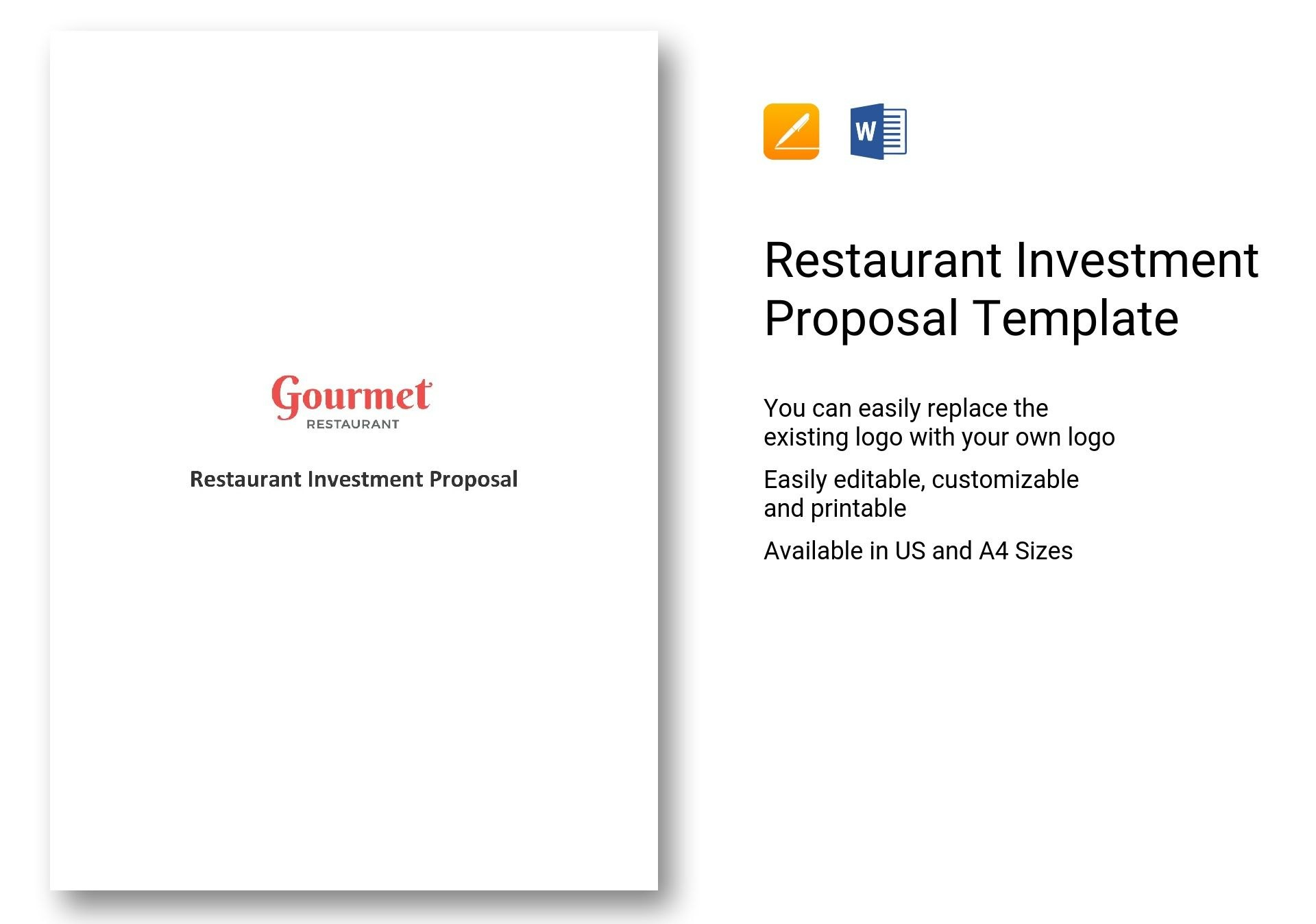 Restaurant Investment Proposal Template In Word Apple Pages With Investment Proposal Template