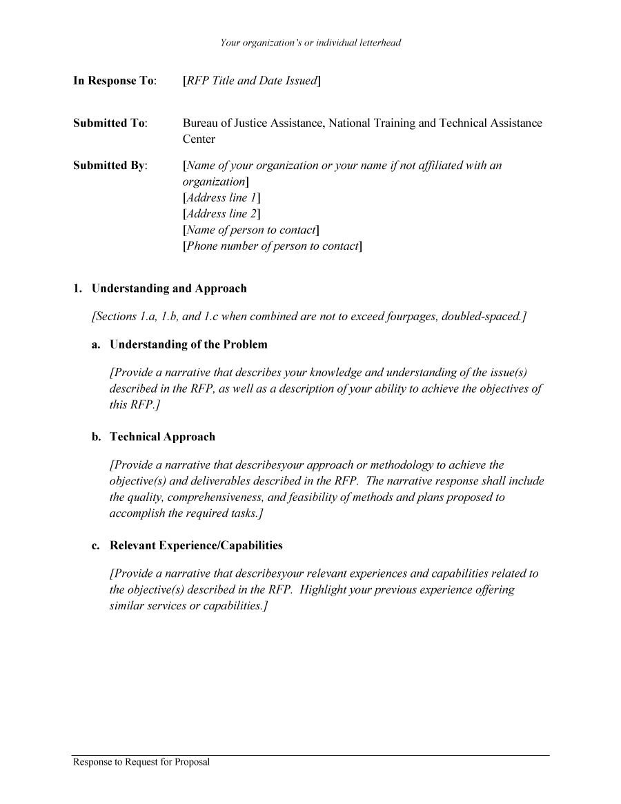 Rfp Proposal Template  Monzaberglaufverband Within Technical Proposal Template