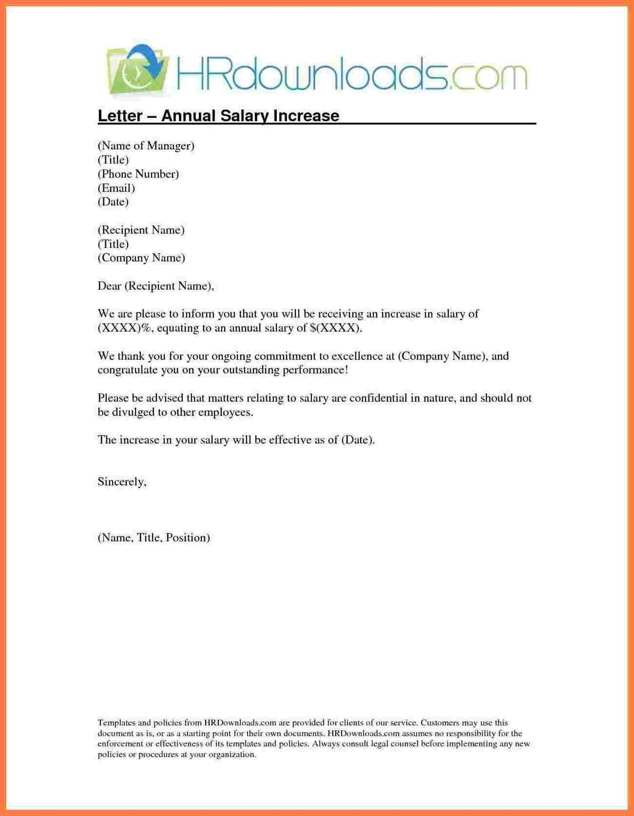 Salary Increment Letter Formatemployer Copy  Template Letter Regarding Salary Increase Letter To Employer Template