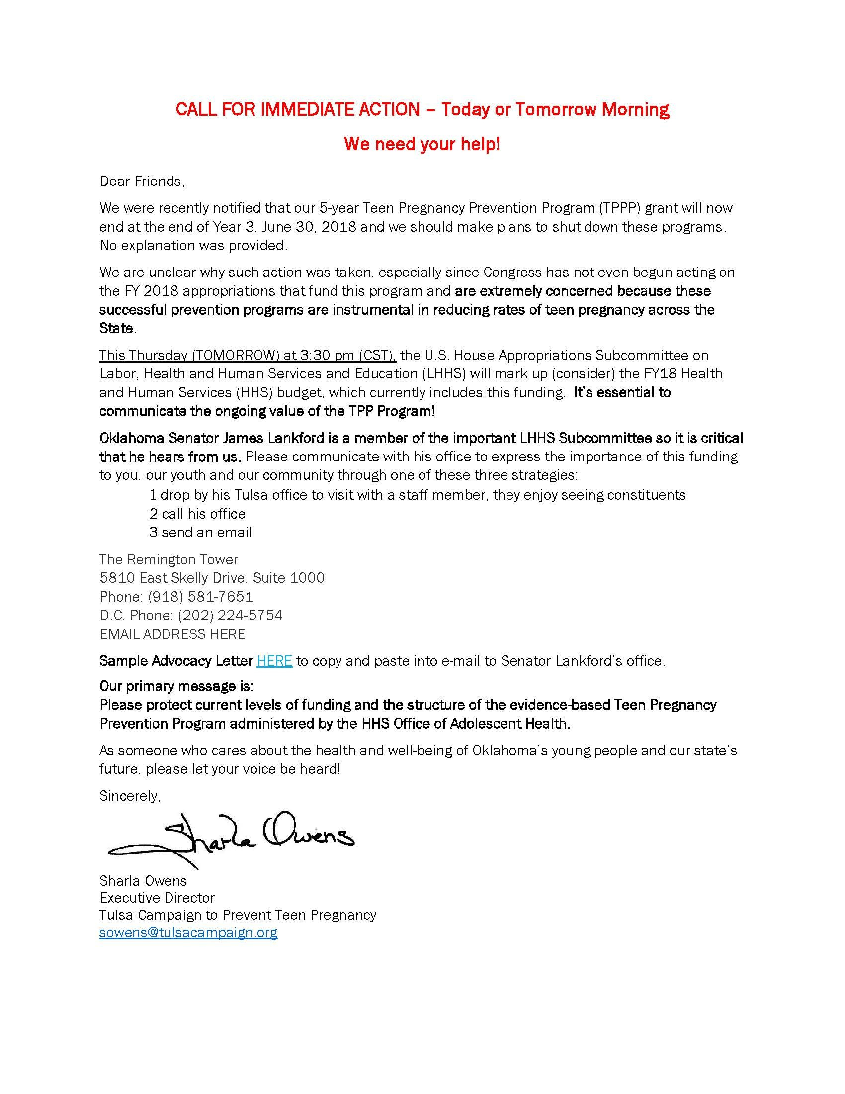 Sample Advocacy Letter  Prevent Teen Pregnancy Inside Advocacy Letter Template
