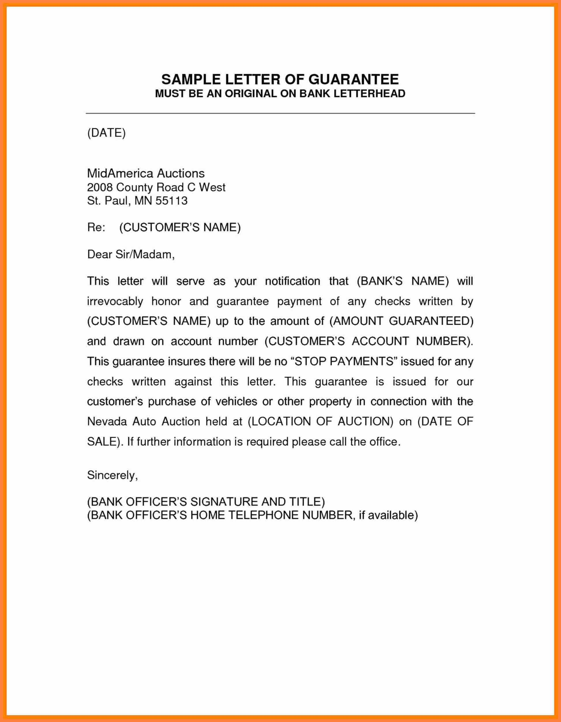 Sample Of Guarantor Letter  Corpus Beat Intended For Letter Of Guarantee Template