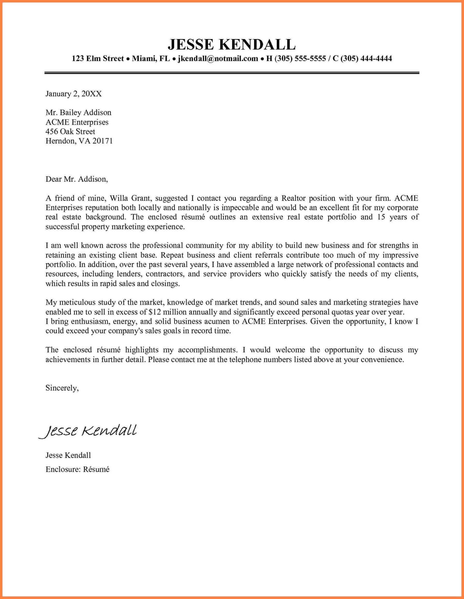Sample Real Estate Offer Letter  Sales Intro Letter With Regard To Real Estate Offer Letter Template