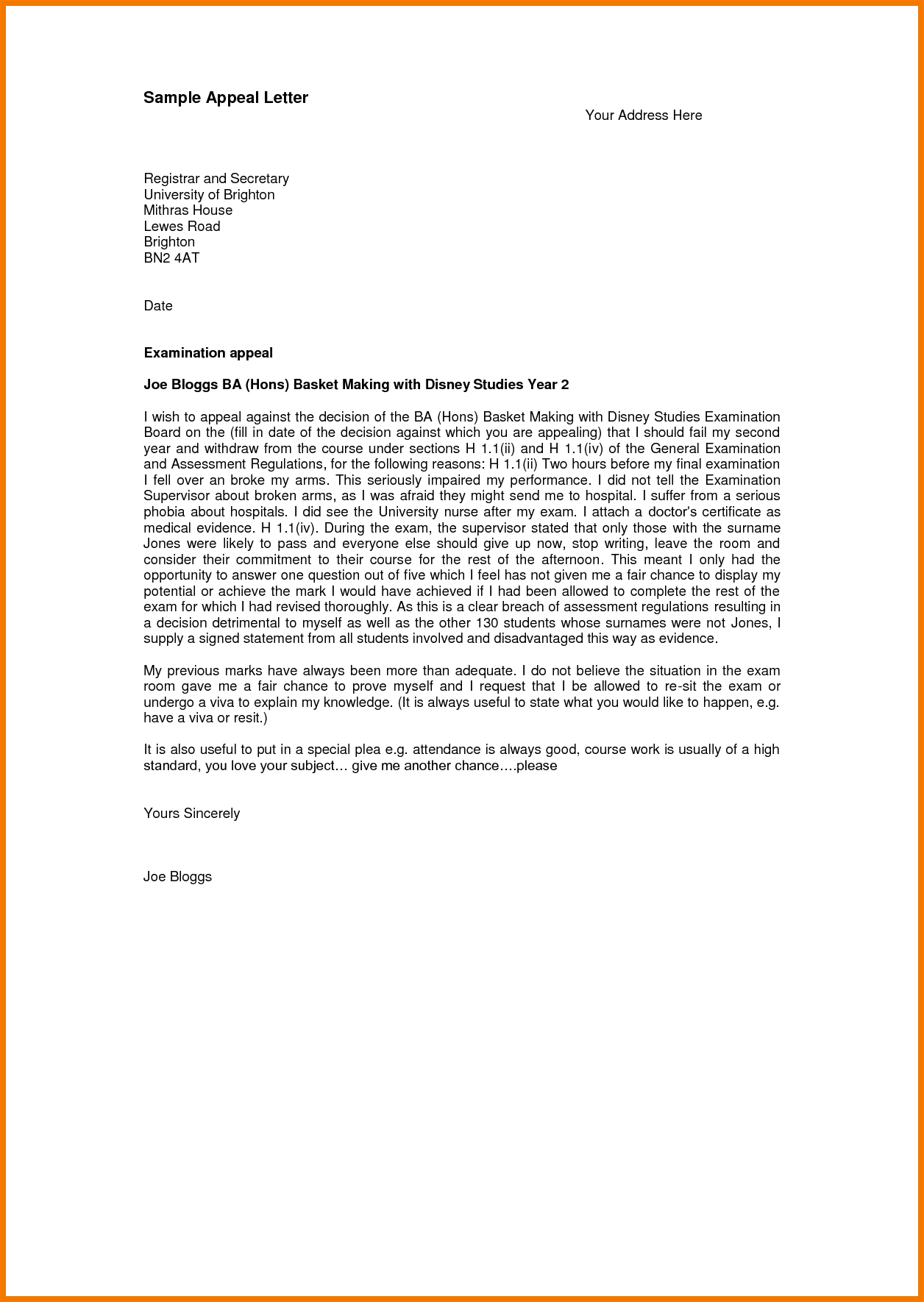 Sample Sap Appeal Letter  Geluidinbeeld Pertaining To Financial Aid Appeal Letter Template