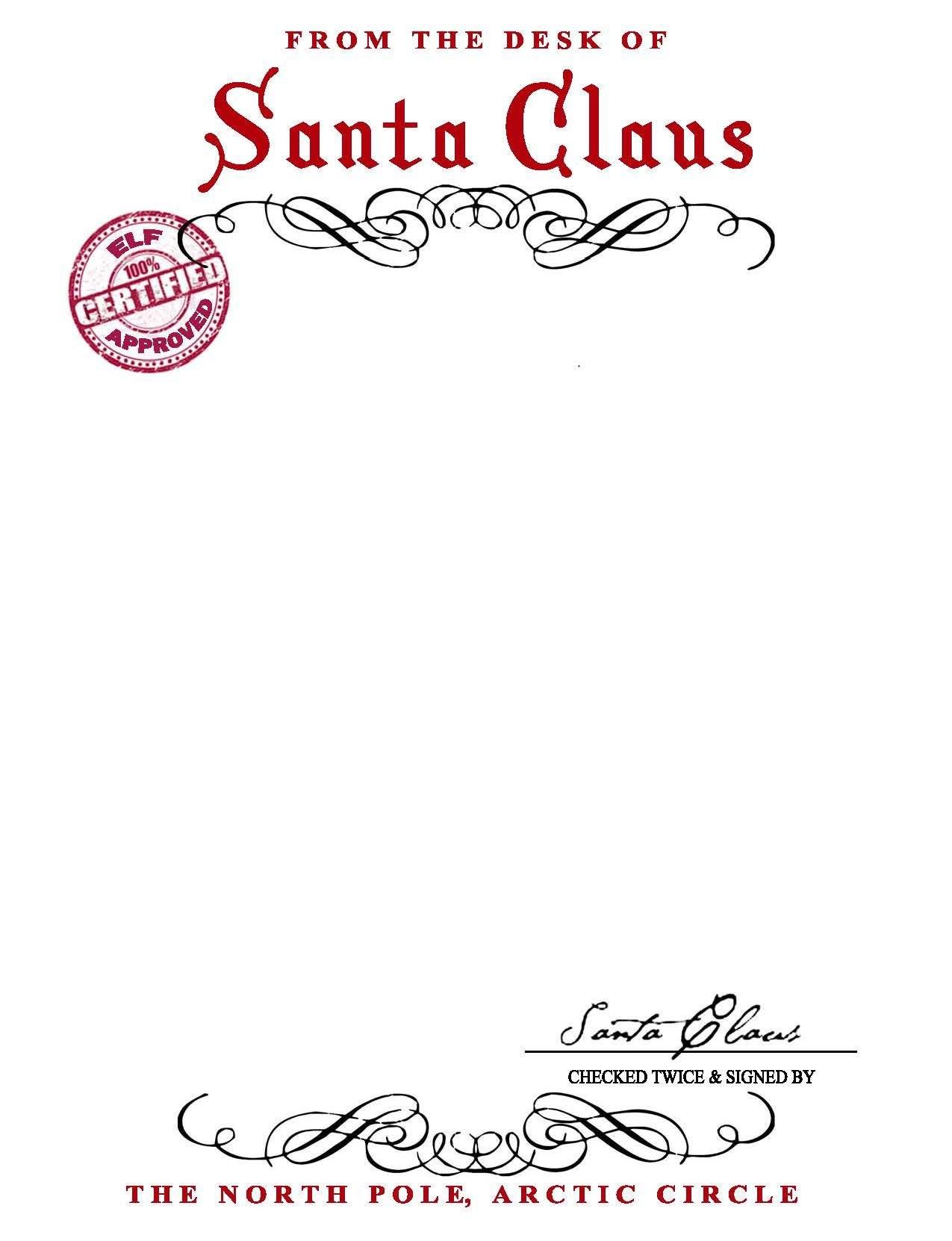 Santa Claus Letterhead Will Bring Lots Of Joy To Children Regarding Letter From Santa Claus Template