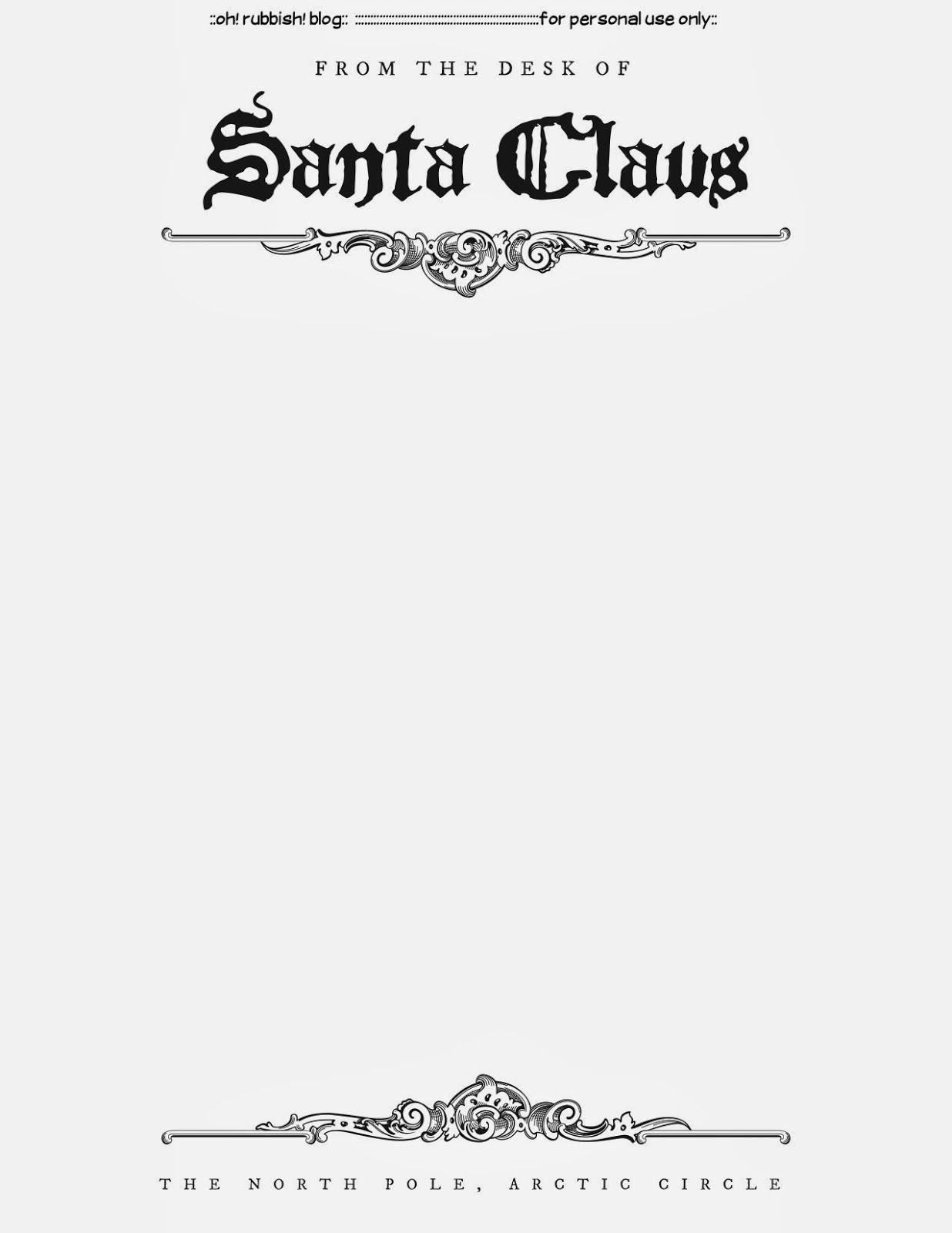Santa Letter Templates  Christmas Printables   Santa Letter Intended For Free Printable Letter From Santa Template