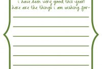 Secret Santa Wish List Template Word inside Secret Santa Letter Template