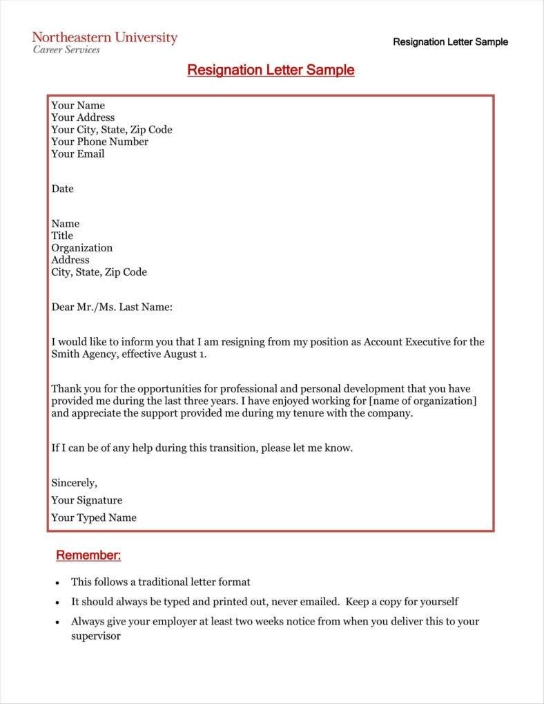 Simple Resign Letter Templates  Free Word Pdf Excel Format Intended For Resignation Letter Template Pdf