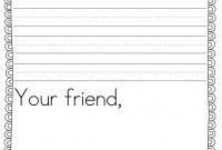Teacher Idea Factory Pen Pal News  Friendly Letter Freebie  First in Letter Writing Template For Kids