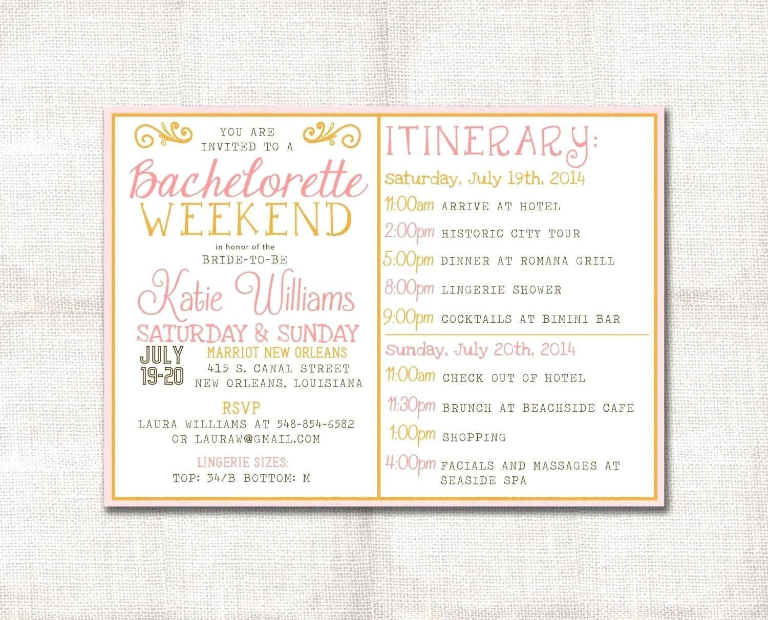 Template Bachelorette Party Agenda Template Zoom Free   Wedding Pertaining To Party Agenda Template