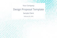 The Perfect Graphic Design Proposal Template And Bonus Bundle within Graphic Design Proposal Template