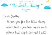 Tooth Fairy Letter Template  Baton Rouge Parents Magazine pertaining to Tooth Fairy Letter Template