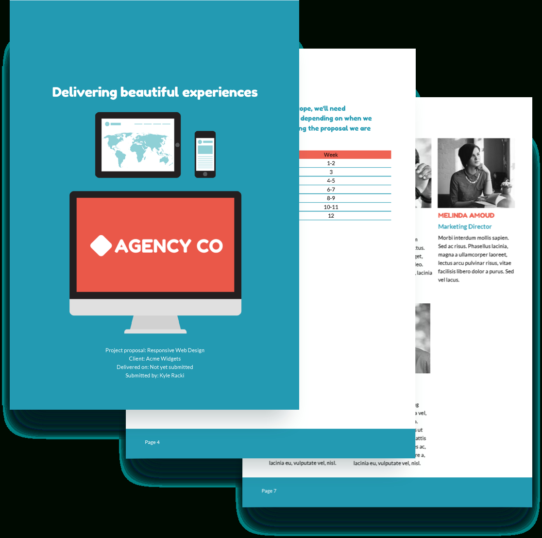 Web Design Proposal Template  Free Sample  Proposify Pertaining To Website Design Proposal Template