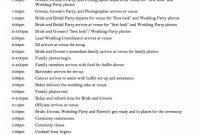 Wedding Day Schedule  Wedding  Wedding Day Schedule Wedding Day With Regard To Wedding Agenda Template