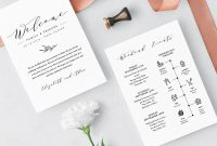 Wedding Itinerary Welcome Letter Template Printable Welcome Bag in Wedding Welcome Letter Template