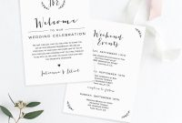 Wedding Itinerary  Welcome Letter Template Welcome Bag Note for Wedding Welcome Letter Template