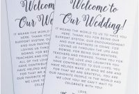 Wedding Welcome Bag Letter Template Collection  Letter Template with regard to Welcome Bag Letter Template
