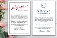 Wedding Welcome Letters Wedding Welcome Note Wedding  Etsy with regard to Wedding Welcome Letter Template