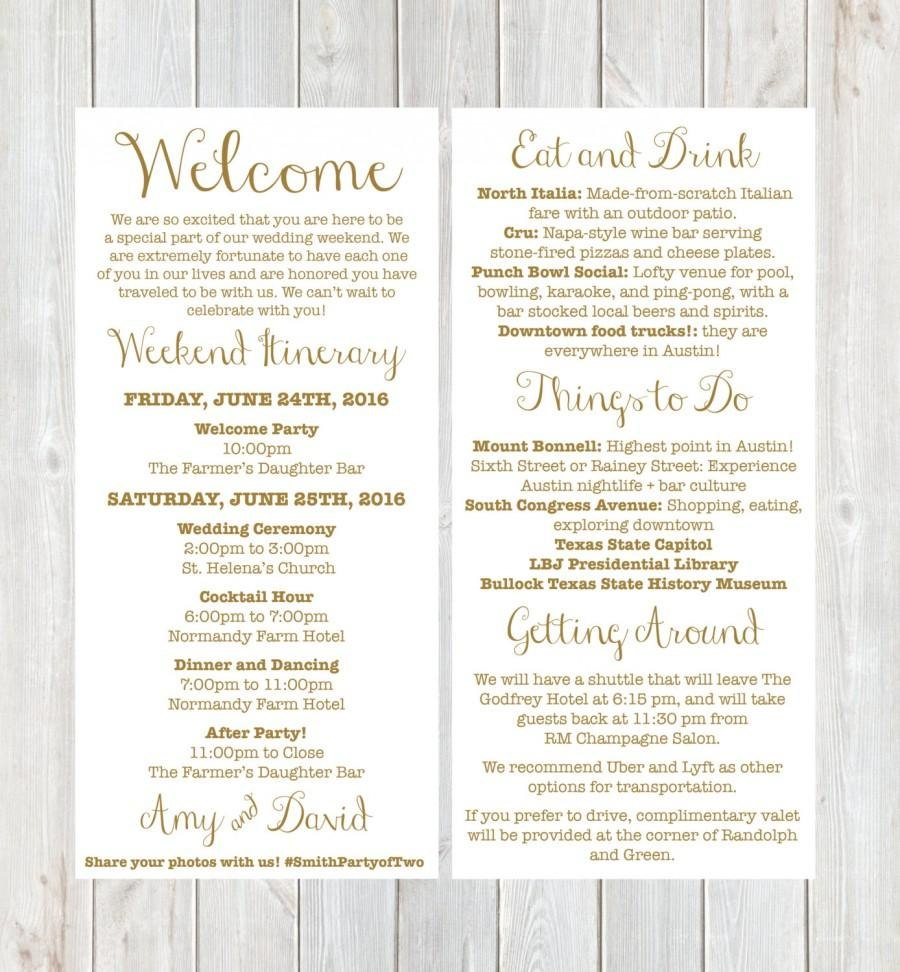 Welcome Letter Template For Wedding Guests Samples  Letter Cover Intended For Wedding Welcome Letter Template
