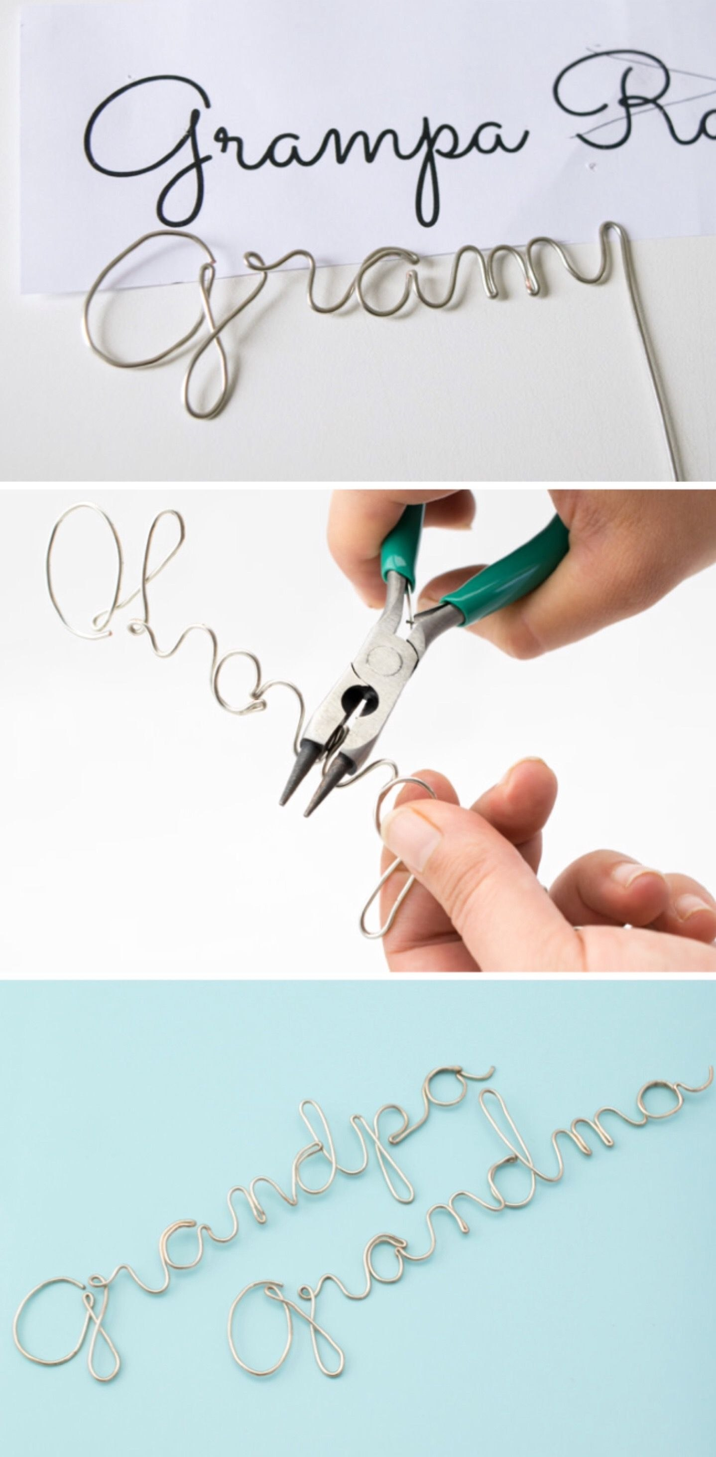 Wire Craft  Wrapping Wire To Make Any Word Or Name  Jewelry Wiring Pertaining To Wire Hanger Letter Template