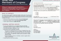 Write Your Congressional Member Letter Template  Accesslex in Letter To Congressman Template