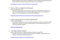Writing A Federal Grant Proposal in Writing A Grant Proposal Template