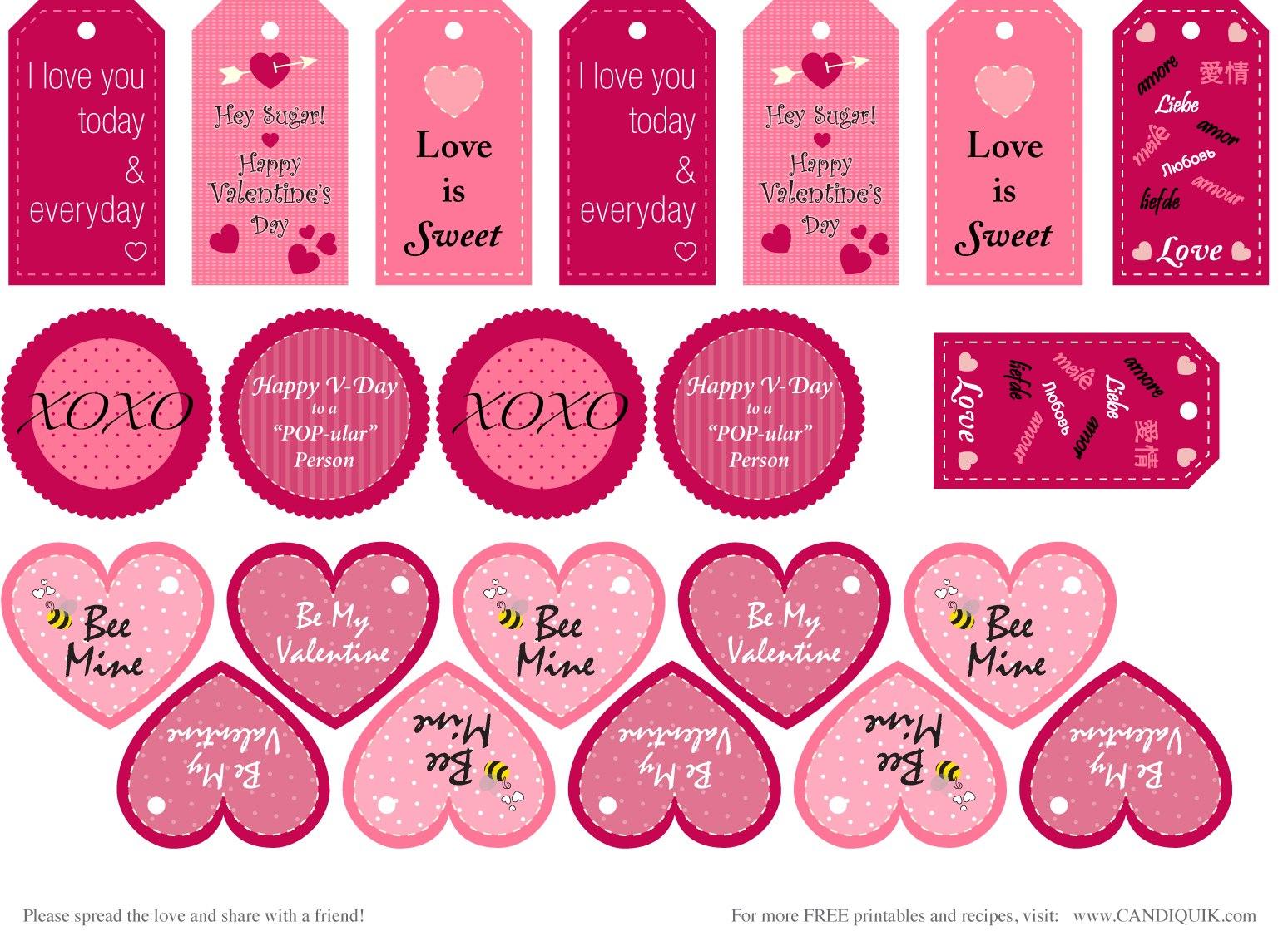 Best Free Valentine Printables  Valentine's Day Fun  A In Free Printable Valentine Templates