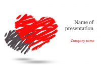 Download Free Two Hearts Powerpoint Template For Presentation inside Free Love Heart Ppt Template