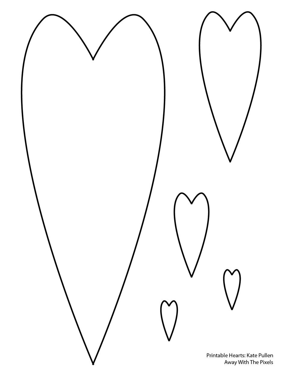 Free Printable Heart Templates Throughout Free Printable Heart Templates