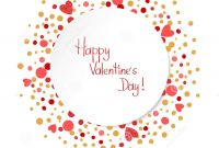 Happy Valentines Day Card Template Romantic Background In Valentine's Day Card Printable Templates