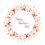 Happy Valentines Day Card Template — Stockvektor © Afanasia regarding Valentine's Day Card Printable Templates