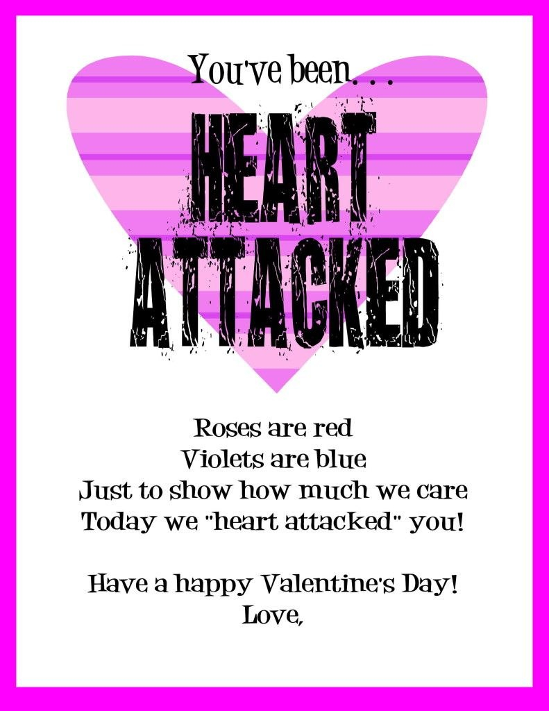 Heart Attack For Valentine's With Printable  Valentine With Valentine Heart Attack Idea With Free Printable Heart Template