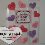 Heart Attack Your Valentine  Celebrating Holidays intended for Valentine Heart Attack Idea With Free Printable Heart Template