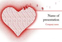 Love Heart Powerpoint Template For Impressive Presentation pertaining to Free Love Heart Ppt Template
