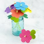 Simple Paper Heart Flowers in Paper Heart Flower Craft With Template