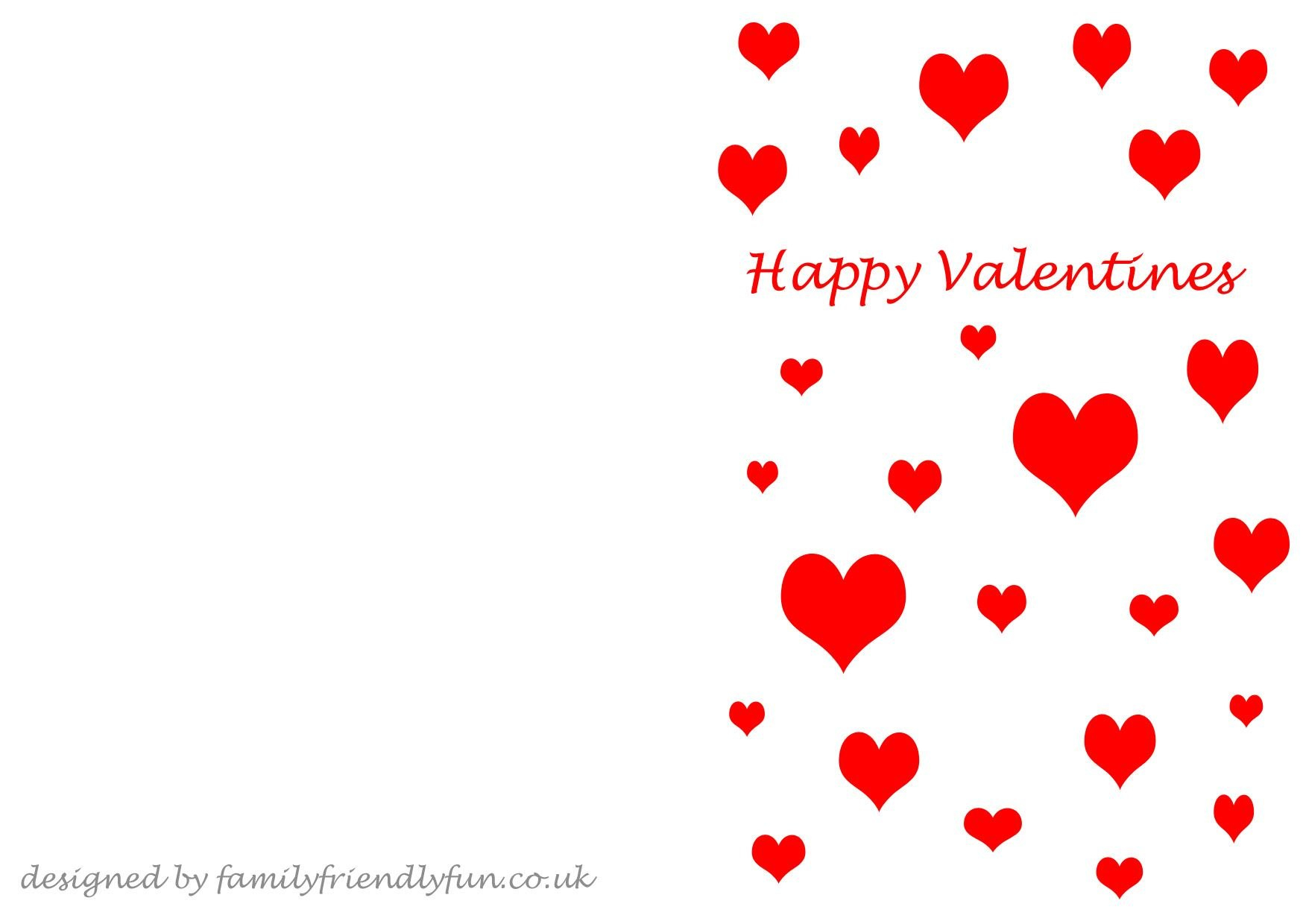 Valentine's Card Templates  Template For Valentine Cards For Valentine's Day Card Printable Templates
